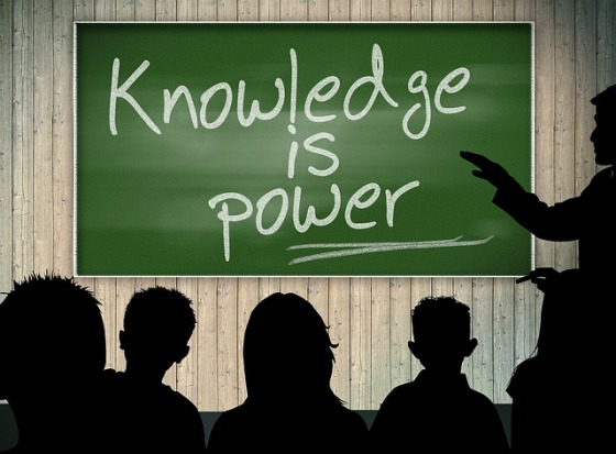 knowledge is power chalk